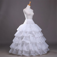 Weedding Petticoat 2016 Ball Gown 4 Hoops 5 Layers Wedding Petticoat Underskirt Crinoline For Wedding Prom