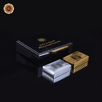 WR Luxury Home Decor 24k Pure Gold Silver American 100 Dollar Casino Playing Card Quality Chip