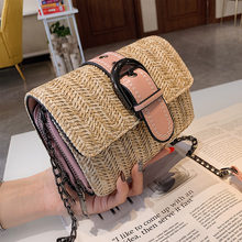 Small Leather Straw Flap Bags For Women 2019 Summer Crossbody Bags Lady Travel Purses and Handbags Female Shoulder Messenger Bag
