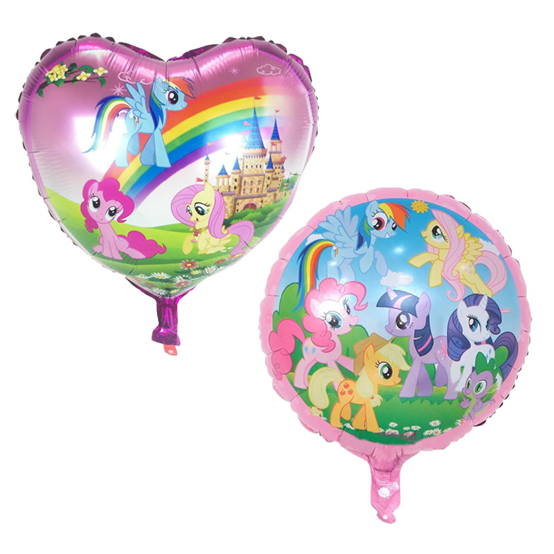 2pcs/lot 18 inch cartoon My Little Pony balloons foil balloon party supplies Decoration kids birthday aluminum balloon Christmas