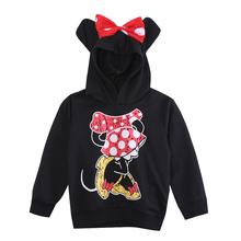 New Fashion Cute Kids Girls Boys Minnie Mouse 2016 Hooded Jacket Sweater Hoodie Coat 1 6Y