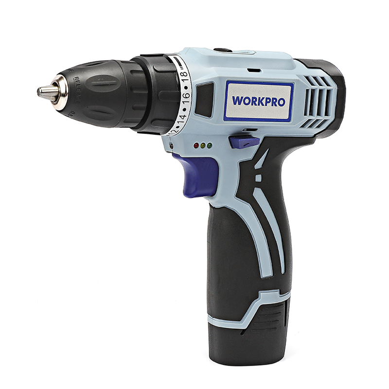 WORKPRO 12V Electric Cordless Drill Lithium-Ion Battery Drill Household Power Drill DIY Wireless Electric Drill