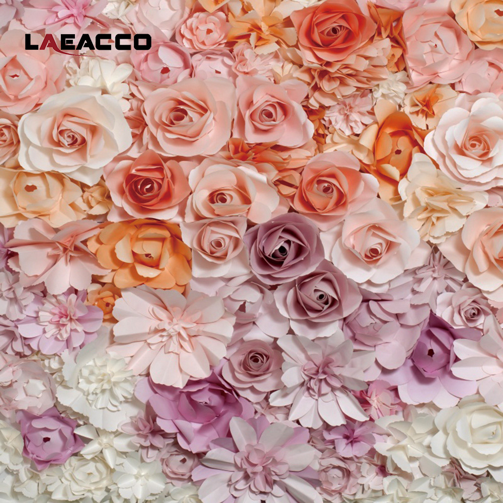 Laeacco gradient blooming paper flowers wall scene photography laeacco gradient blooming paper flowers wall scene photography backgrounds vinyl custom camera backdrops props for photo studio in background from consumer mightylinksfo
