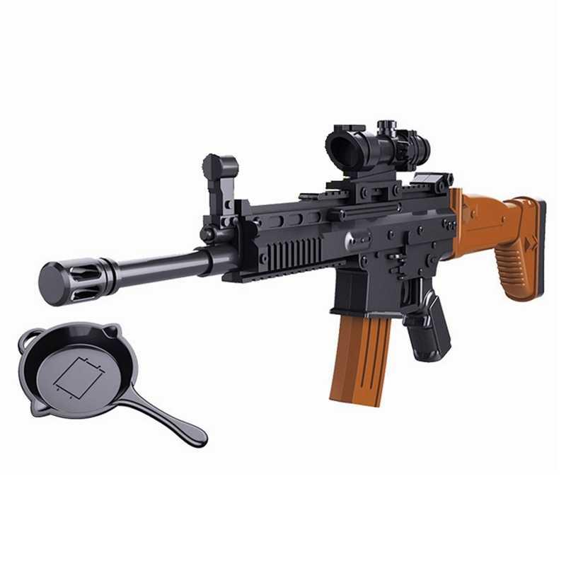 Legoing Blok SWAT Militer Perisai Senjata Mainan Single Dijual Bangunan Blok Mainan untuk Anak-anak Militer Blok SWAT Army Mainan Hadiah