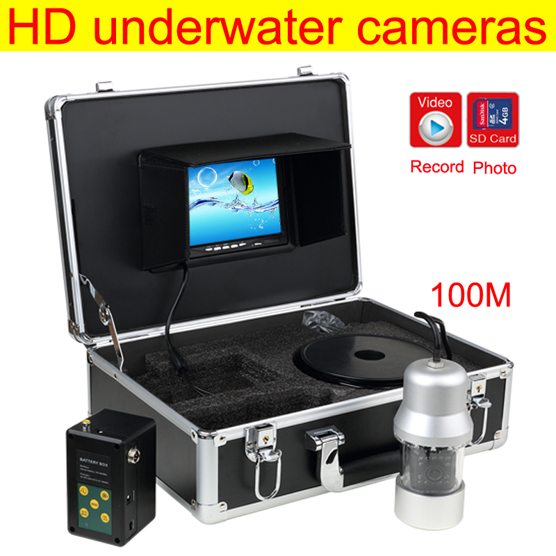 Underwater Fish Finder Professional Fishing Video Camera with 7 TFT night vision Fishing camera with Carry Case 7 tft lcd fishing camera dvr system 24ir leds fish finder 50m hd 700tvl underwater video camera system with night vision