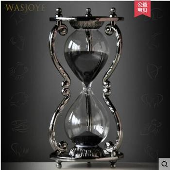 Creative 30min silver metal liquid clock with Constellation pattern showertimer sand glass clock for gifts A32