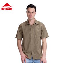 ROYALWAY Camping & Hiking Shirts Short Sleeve Breathable Quick Dry #RIM7056CS