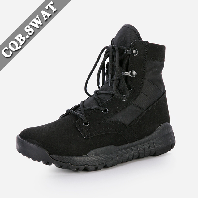 pretty nice d89e8 fe36a ... shop a2ffe 3f543 SWAT Mens Army Military Breathable Summer Boot Combat  Black Super ... 1 swat steel toe for sale .