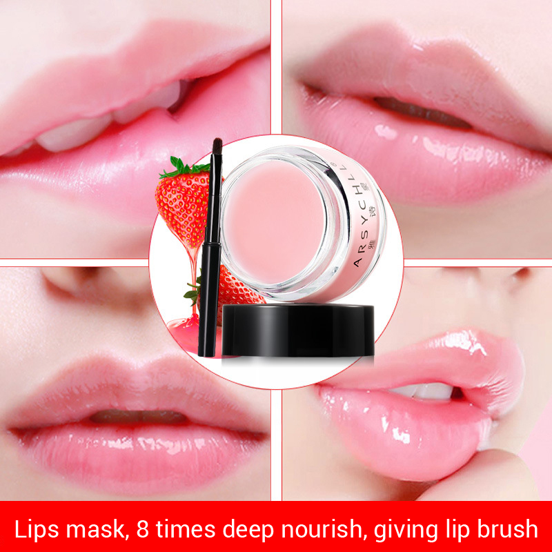 где купить ARSYCHLL Strawberry scent lip balm Sleeping Mask 20g Enhancing and repairing sleeping lip mask Lip Membrane Repair lip Wrinkles по лучшей цене