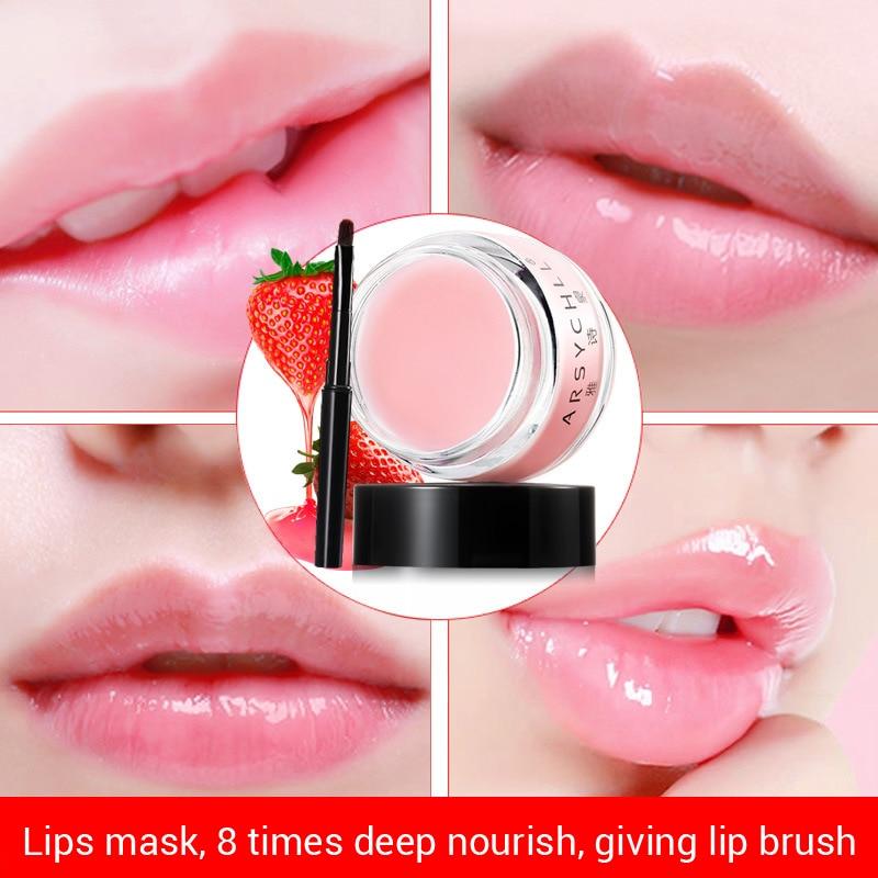 ARSYCHLL Strawberry Scent Lip Balm Sleeping Mask 20g Enhancing And Repairing Sleeping Lip Mask Lip Membrane Repair Lip Wrinkles