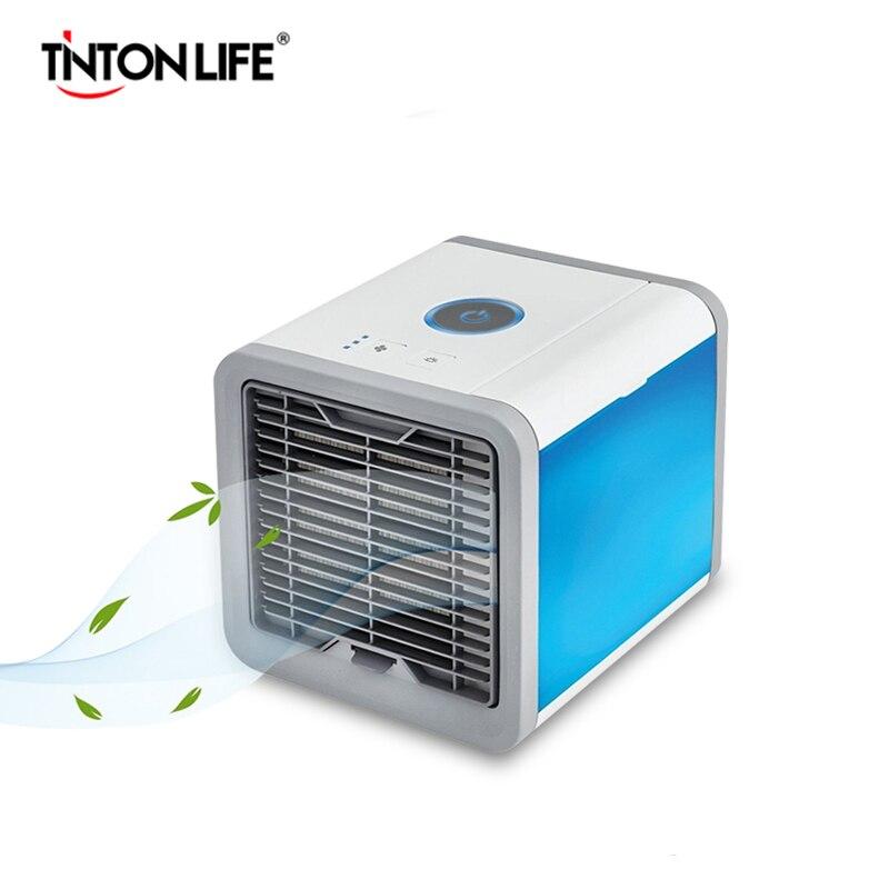 Personal Refrigerador de Espacio Port/átil Aire Acondicionado Ventilador de refrigeraci/ón Purificador de Aire silencioso Circulador con 2 velocidades para la Oficina en casa