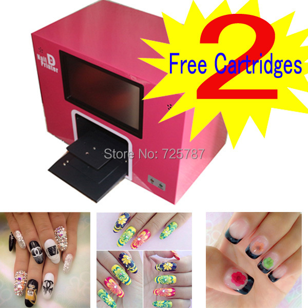 Free Shipping New Upgrade Digital Nail Printer Printing Machine Build With Computer And Monitor In Art Equipment From Beauty Health On