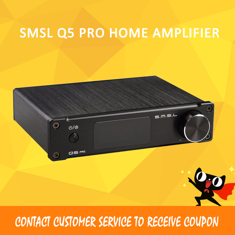 ASD SMSL Q5 Pro High Quality HiFi 2.0 Pure Digital Home Audio Amplifier Optical/Coaxial/USB/ input Remote Control стоимость