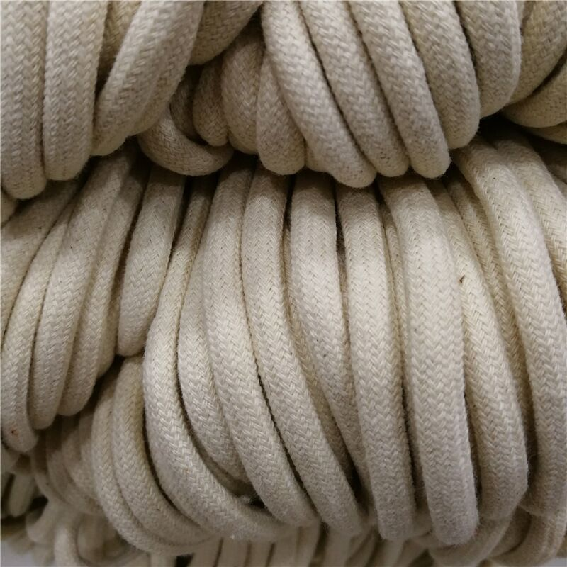 100 Meter 50//100m 32-Strand Cotton Core Cord String 5mm Rope Craft Drawstring