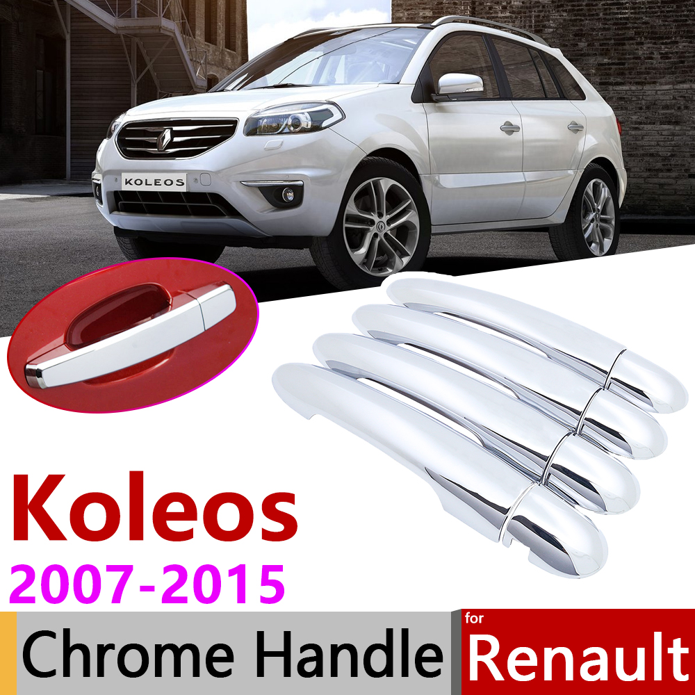 for <font><b>Renault</b></font> <font><b>Koleos</b></font> Samsung QM5 I MK1 <font><b>2008</b></font>~2015 Chrome Door Handle Cover Car Accessories Stickers Trim Set 2009 2011 <font><b>2013</b></font> 2014 image