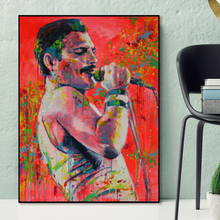 Freddies Mercuries Queen Band Watercolor HD Wall Art Canvas Posters Prints Oil Painting Pictures Bedroom Modern Home Decor