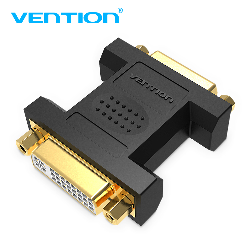Vention Dvi To Dvi 24+5 Adapter Female To Female 2560p Hdtv Converter For Pc Projector Tv Box Packing Of Nominated Brand Dvi Cables