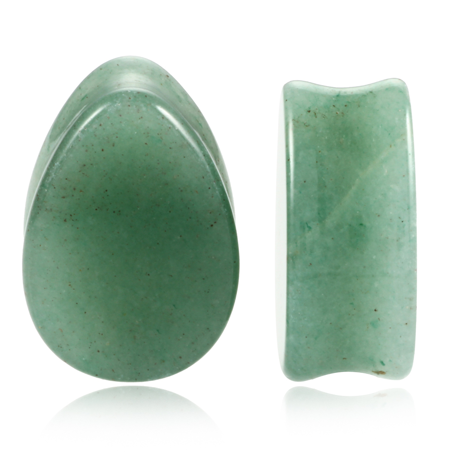2 pcs Mode Batu Teardrop Ear Plugs Tunnel Piercings Plugs Earring - Perhiasan fashion - Foto 2