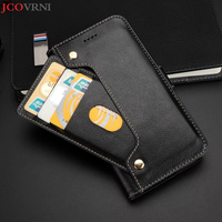 JCOVRNI 100% leather business for iPhoneX mobile wallet multi function card flip cover design for iPhone 7 8 plus phone case