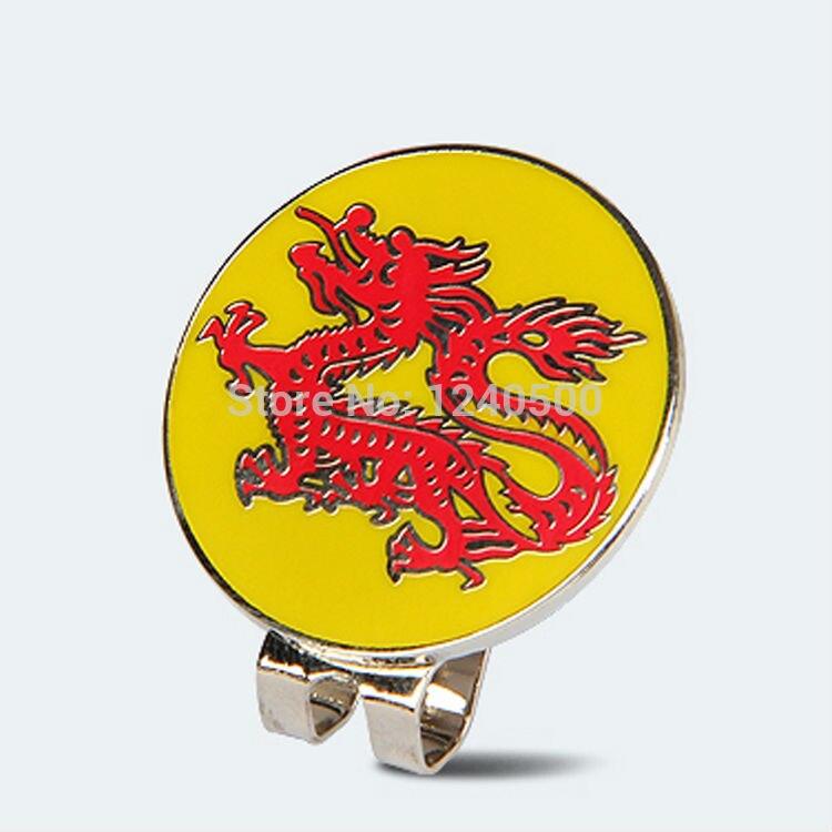 Envío Libre 2017 de la Nueva Llegada de China Dragon Golf Cap Clip Marcador de P