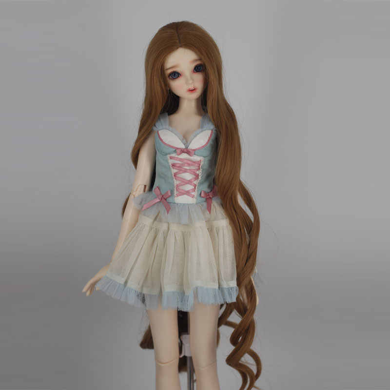 Бесплатная доставка, высокое Температура волокно Длинные свободные вьющиеся сократить вдвое куклы волосы куклы аксессуары 1/3 1/4 парик BJD кукольный парик