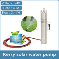 24v dc brushless head 40m diving Kerry 2017 latest design solar water pump
