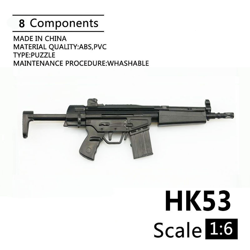 1:6 HK53 Shortened Carbines 1/6 Plastic Assembled Firearm Puzzle Model For 12