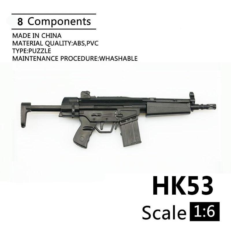 1:6 HK53 Shortened Carbines 1/6 Plastic Assembled Firearm Puzzle Model For 12