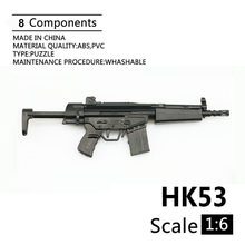 "1:6 HK53 Shortened Carbines 1/6 Plastic Assembled Firearm Puzzle Model For 12"" Soldiers Military Weapons Building Blocks(China)"