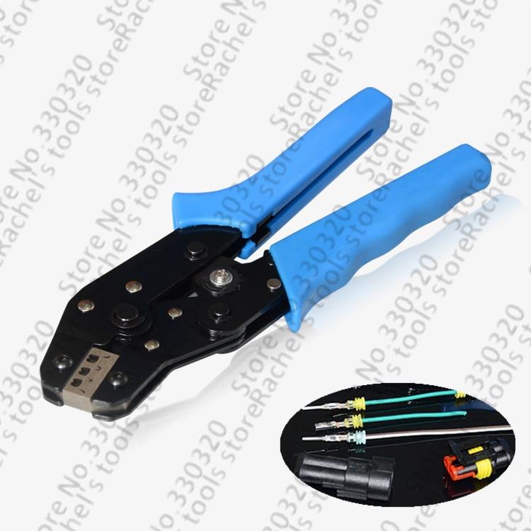 Terminal Crimpen Werkzeug Für Wasserdichte Elektrische Draht Anschluss Versiegelt Terminals Ratsche Crimpen Zangen 0,5-1.5mm2 GroßE Sorten Werkzeuge