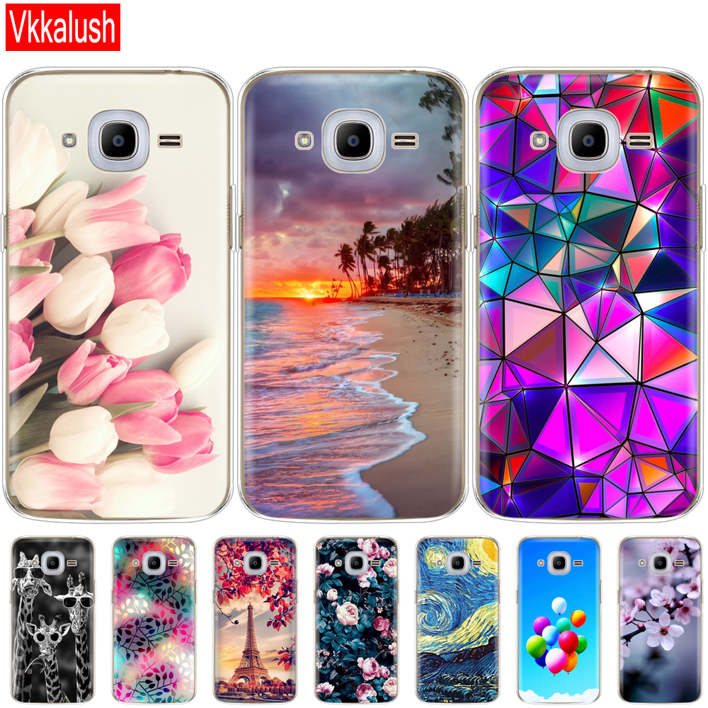 Soft TPU Case For Samsung J2 2016 For Galaxy J2 2016 SM  J210 back cover 360 full protective printing transparent case coque-in Fitted Cases from Cellphones & Telecommunications