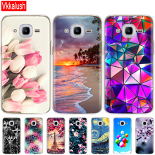 Soft TPU Case For Samsung J2 2016 For Galaxy J2 2016 SM  J210 back cover 360 full protective printing transparent case coque