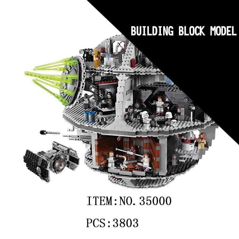 LELE Star millénium faucon Wars premier ordre mort étoile destructeur Solo blocs de construction briques jouets pour enfants cadeaux avec amour