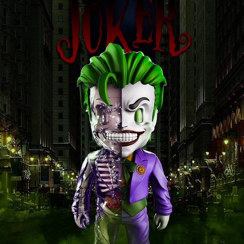 цены 4D XXRAY Anime Batman Doll DC Joker Clown Action Figure KAWS Skeleton Model Decoration Toy
