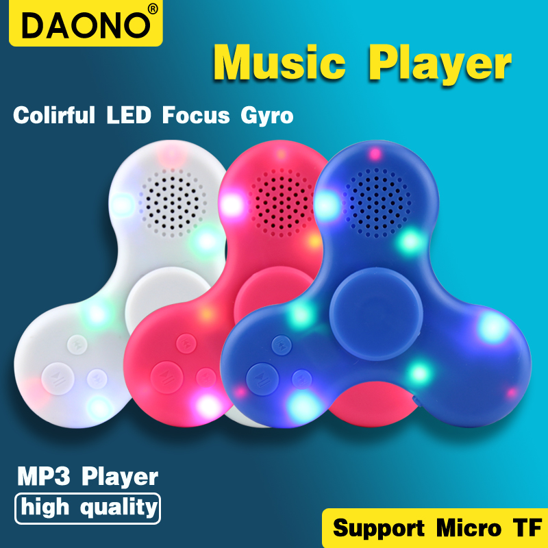 2017 New MP3 Player Hand Spinner finger gyro hang gyroscope Spin Mp3 Music Player Supports 16GB Micro SD Built-in speaker