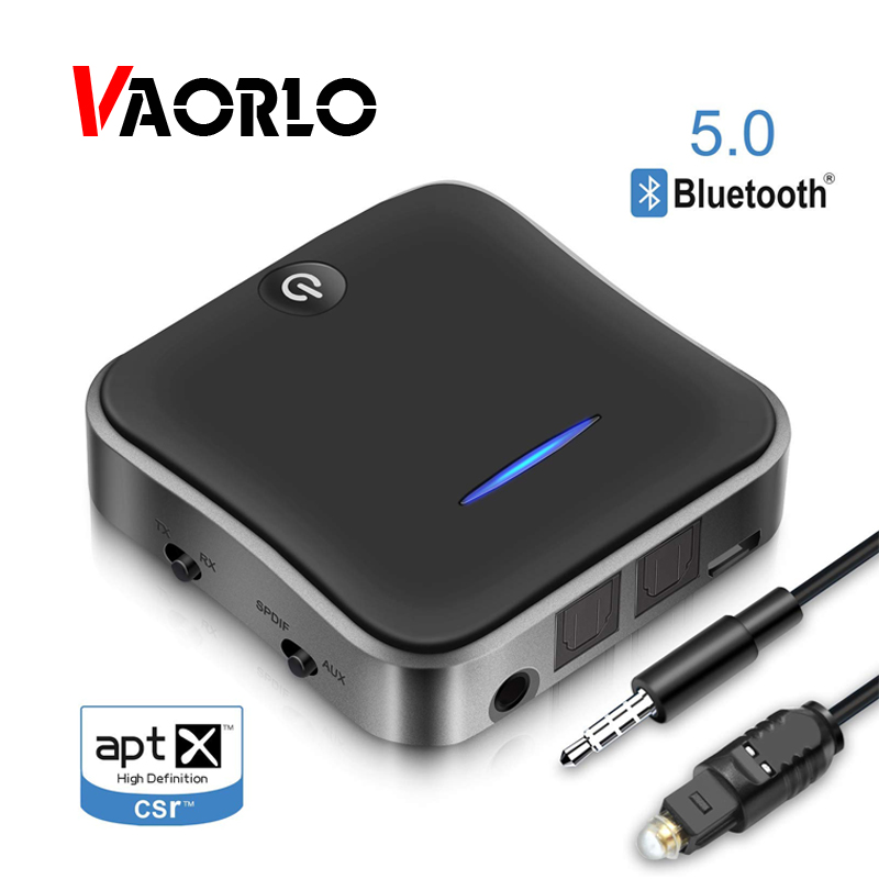 Bluetooth Émetteur Récepteur 5.0 Sans Fil Adaptateur CSR8675 Aptx HD Adaptateur Optique Toslink/3.5mm AUX/SPDIF Pour Voiture TV Haut-Parleur