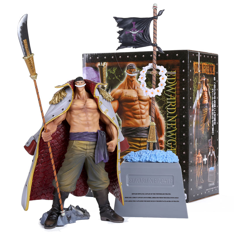 Anime One Piece DXF Edward Newgate & Tombstone White Beard Emperors PVC Action Figures Collectible Toys OPFG435 35cm japanese anime one piece pop edward newgate pvc action figures toys in box retail free shipping