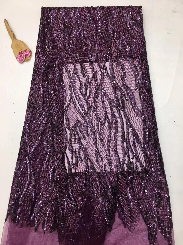 Haftowane koronki tkaniny David 6.3104 z cekinami piękne nigerii cekiny koronki tkaniny na sukienka na imprezę w Koronka od Dom i ogród na  Grupa 1