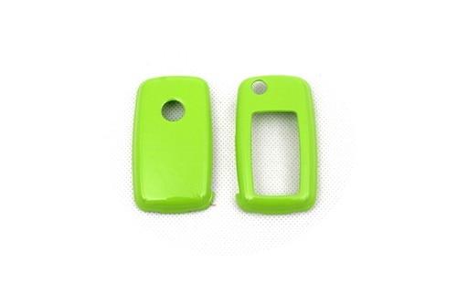 Жесткий Пластик БЕСКЛЮЧЕВОЙ дистанционный ключ защитный кожух(блеск для губ зеленый) для Фольксваген MK6