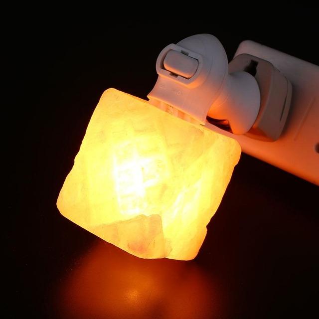 Forma de pedra de cristal de rocha sal lâmpada home da parede noite branco quente luzes da ue/us plug veilleuse