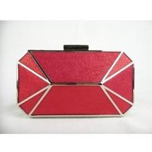 8607-RD red Lady Fashion Hochzeit Braut Party Night clutch bag Achteckige geldbörse handtasche fall box IN KOSTENLOSER VERSAND