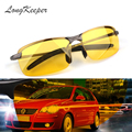 LongKeeper 2017 New Yellow Lense Night Vision Driving Glasses Men Polarized Driving Sunglasses Goggles Reduce Glare