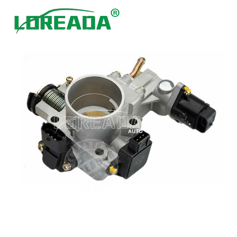 LOREADA Mechanical Throttle Body Assembly with Sensor and IAC for DAIHATSU CHARADE 474 Engine UAES system Bore Size 40mm