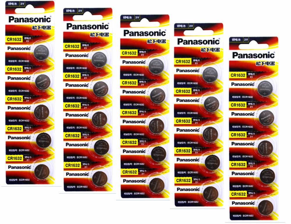 25 X PANASONIC CR1632 1632 DL1632 3 V литиевые батареи кнопка сотового телефона монета Батарея
