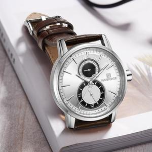 Image 3 - 2018 New Men Watch NAVIFORCE Top Brand Luxury Mens Quartz Date Clock Male Leather Business Sport Watches Relogio Masculino