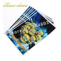 500 sztuk/partia Miniony Theme Strona Gift Bag Party Dekoracje Plastikowe Cukierki Torba Loot Bag Dla Kids Festival Party Supplies