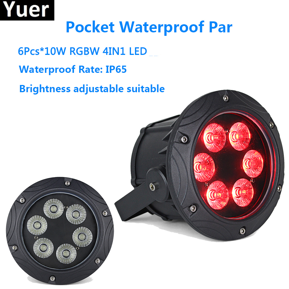 Pocket Waterproof Par 6X10W RGBW 4IN1 Mini LED Par Light Business Led Flat Par Light with Professional for Party KTV Disco DJ 2017 factory price 1pcs 60w bee eyes beam par light 6x10w rgbw 4in1 led par lights for stage dj disco professional party show