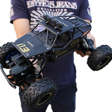 Супер-большой сплав скалолазание горный четырехколесный привод дистанционного управления Игрушечная модель внедорожный автомобиль скалолазание автомобиль Детский контроль