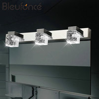 Modern Stainless Steel LED Mirror Front Light Bathroom Makeup Wall Lamp led Vanity Toilet Wall Sconce Fixture Wall Lamps BL264