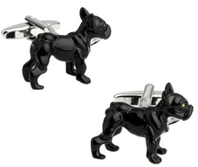 Factory Price Retail Novelyu Animal Cufflinks For Men Fashion Copper Material Black Wolfhound Design Cuff Links Free Shipping